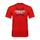 Performance Red Tee-Cavaliers Baseball Seams