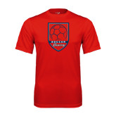 Syntrel Performance Red Tee-Cavaliers Soccer Shield