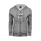 ENZA Ladies Grey Fleece Full Zip Hoodie-St. Gregorys w/ C