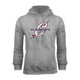 Grey Fleece Hood-St. Gregorys w/ C