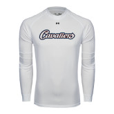 Under Armour White Long Sleeve Tech Tee-Cavaliers Script
