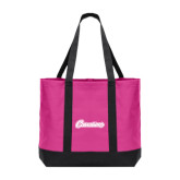 Tropical Pink/Dark Charcoal Day Tote-Cavaliers Script