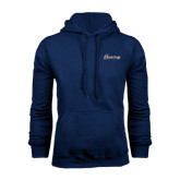 Navy Fleece Hood-Cavaliers Script