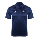 Adidas Climalite Navy Jaquard Select Polo-University Mark Stacked