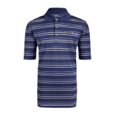 Adidas Climalite Navy Textured Stripe Polo-Cavaliers Script