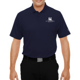 Under Armour Navy Performance Polo-University Mark Stacked