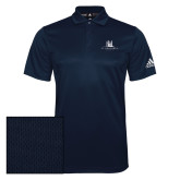 Adidas Climalite Navy Grind Polo-University Mark Stacked