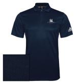 Adidas Climalite Navy Grind Polo-University Mark Stacked