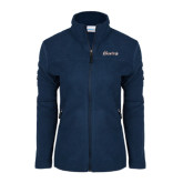Columbia Ladies Full Zip Navy Fleece Jacket-Cavaliers Script