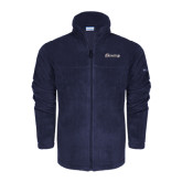 Columbia Full Zip Navy Fleece Jacket-Cavaliers Script