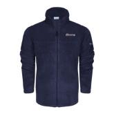 Columbia Full Zip Navy Fleece Jacket-Cavaliers Script