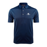 Navy Dry Mesh Polo-University Mark Stacked
