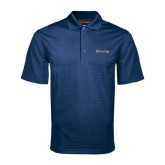 Navy Mini Stripe Polo-Cavaliers Script