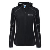 Columbia Ladies Sweet As Softshell Black Jacket-Cavaliers Script