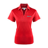 Ladies Red Performance Fine Jacquard Polo-Cavaliers Script