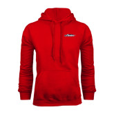 Red Fleece Hood-Official Logo