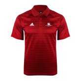 Adidas Climalite Red Jaquard Select Polo-University Mark Stacked