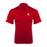 Adidas Climalite Red Grind Polo-University Mark Stacked