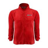 Fleece Full Zip Red Jacket-Cavaliers Script