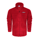 Columbia Full Zip Red Fleece Jacket-Official Logo