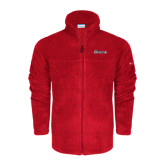 Columbia Full Zip Red Fleece Jacket-Cavaliers Script