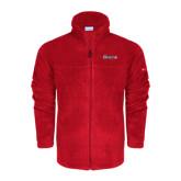 Columbia Full Zip Red Fleece Jacket-Cavaliers Script