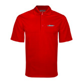 Red Mini Stripe Polo-Official Logo