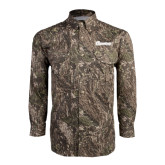 Camo Long Sleeve Performance Fishing Shirt-Cavaliers Script