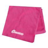 Pink Beach Towel-Cavaliers Script