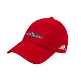 Adidas Red Slouch Unstructured Low Profile Hat-Official Logo