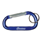 Blue Carabiner with Split Ring-Cavaliers Script Engraved