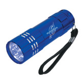 Industrial Triple LED Blue Flashlight-St. Gregorys w/ C Engraved