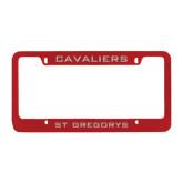 Metal Red License Plate Frame-Cavaliers