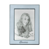 Silver Two Tone 5 x 7 Vertical Photo Frame-Cavaliers Script Engraved