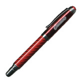 Carbon Fiber Red Rollerball Pen-Cavaliers Script Engraved