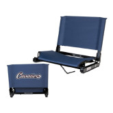 Stadium Chair Navy-Cavaliers Script