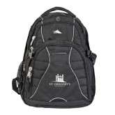 High Sierra Swerve Black Compu Backpack-University Mark Stacked