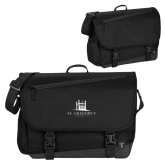 Metro Black Compu Brief-University Mark Stacked