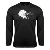 Performance Black Longsleeve Shirt-Lion Head w/ Celts