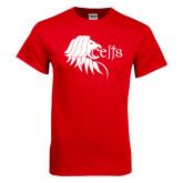 Red T Shirt-Lion Head w/ Celts