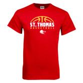 Red T Shirt-St. Thomas Basketball Half Ball