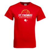 Red T Shirt-St. Thomas Volleyball Stacked