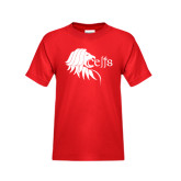 Youth Red T Shirt-Lion Head w/ Celts