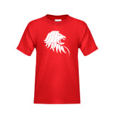 Youth Red T Shirt-Lion Head