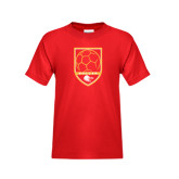 Youth Red T Shirt-Soccer Shield