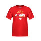 Youth Red T Shirt-St. Thomas Volleyball Stacked