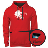 Contemporary Sofspun Red Hoodie-Lion Head w/ Celts