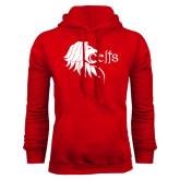 Red Fleece Hoodie-Lion Head w/ Celts