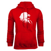 Red Fleece Hoodie-Lion Head