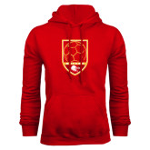 Red Fleece Hoodie-Soccer Shield